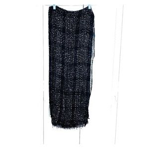 Scarf/Wrap Black with Silver Shimmer